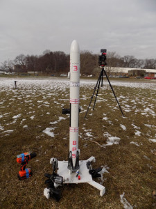 Scout, by Joe Barnard - an ambitious rocketry project which attempts to stabilize itself without fins, and land upright using motor thrust. (photo: n00b)