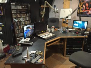 Another view of the studio (before the refurb was completed).